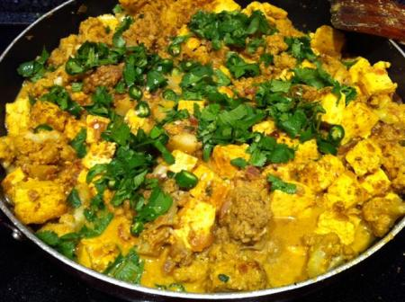 Garlic Paneer Cauliflower