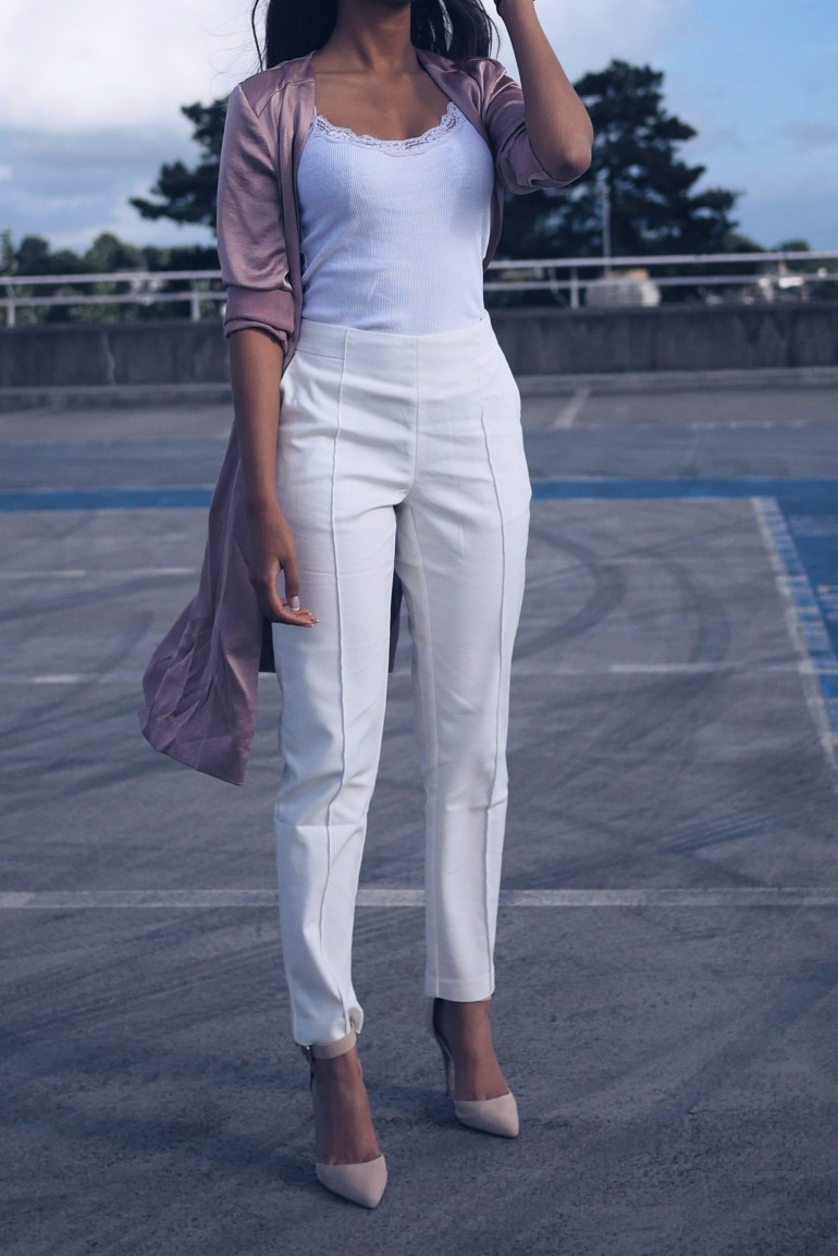 white trouser outfit