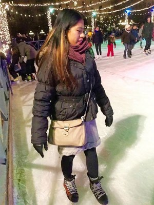 how an asian skate? one step at a time