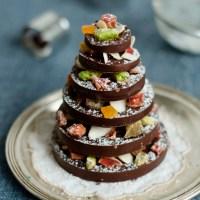 Albero di cioccolato con canditi e frutta secca
