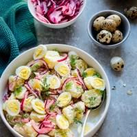 Insalata germanica ...di patate ed uova di quaglia