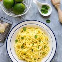 Spaghetti al lime e zenzero