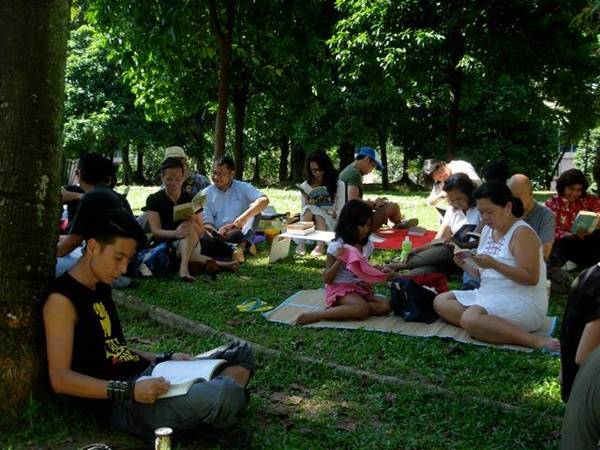 reading festival at KLCC park