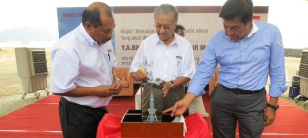 The Maha Tower project was officiated by, who else, Mahathir - Photograph: imejjiaw.com