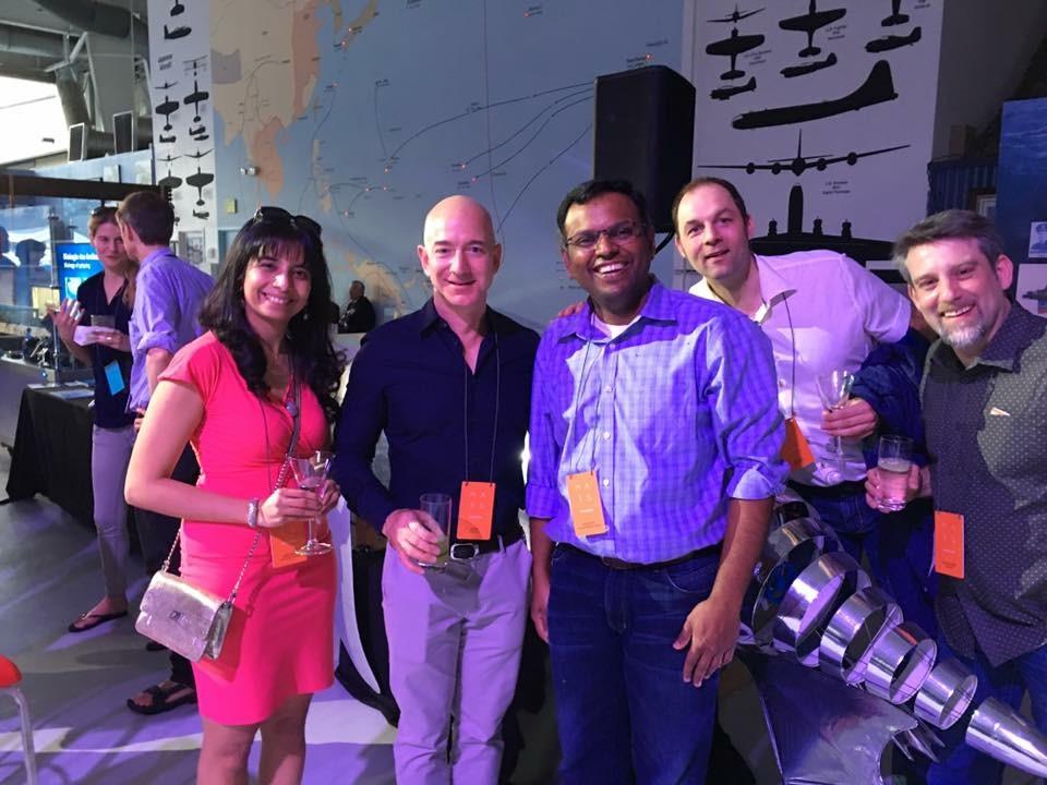 At Mars 2017 with Jeff Bezos, Swami Sivasubramanian, Hassan Sawaf and Ralf Herbrich