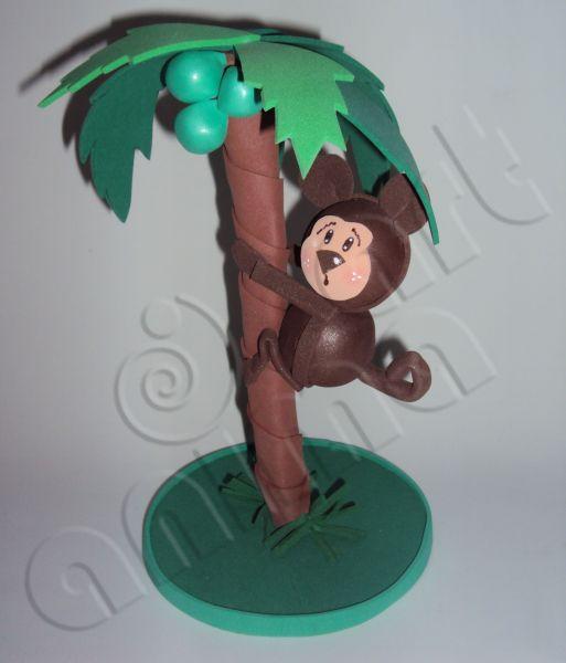 Coqueiro com Macaquinho 3D  Animaart