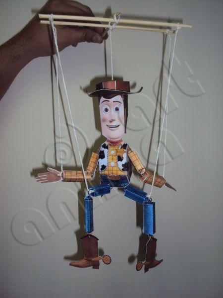 Marionete do Boneco Woody  Toy story  Animaart
