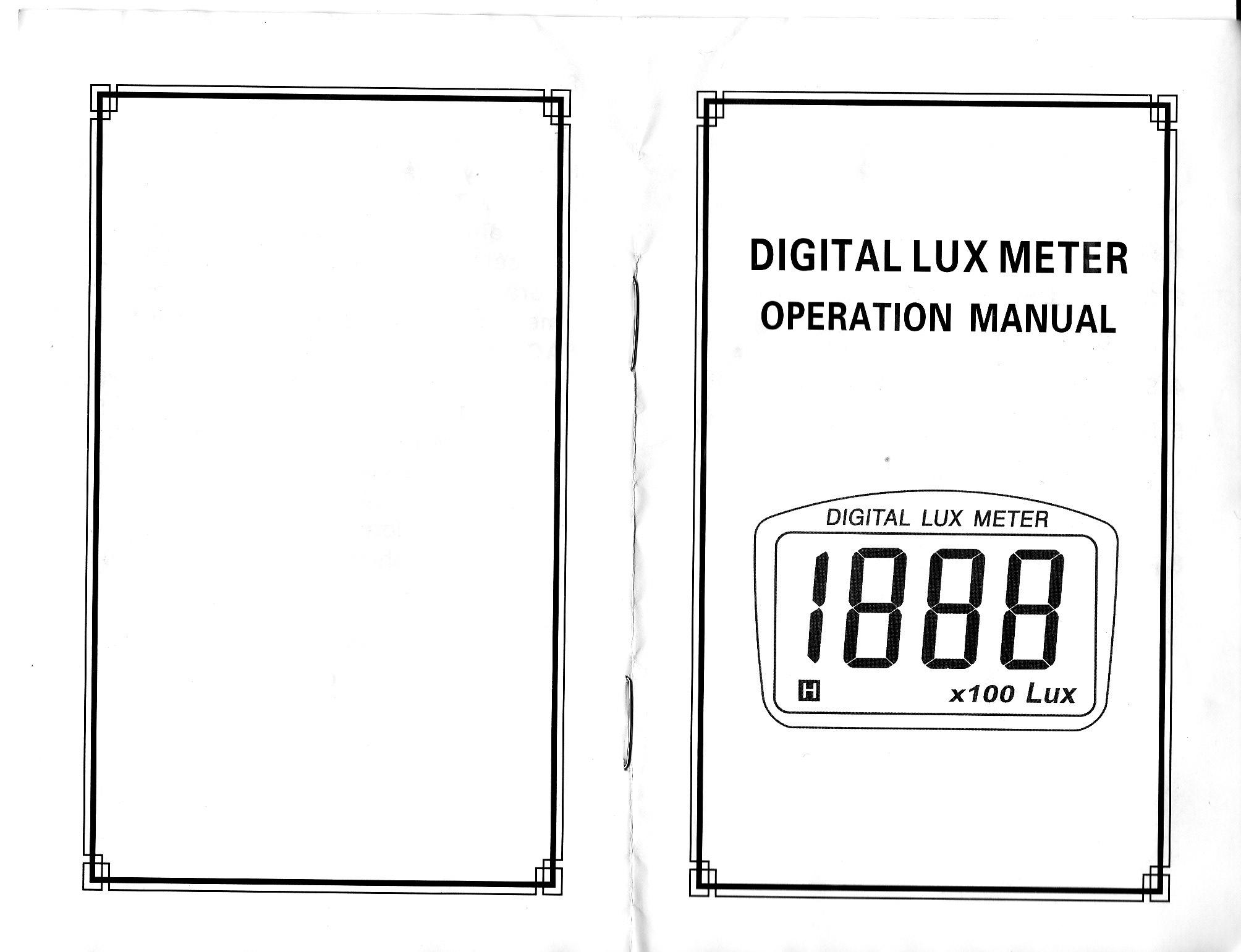 Цифров луксомер 1010B