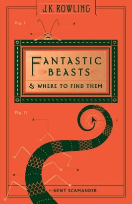 A cauda de algum bicho figura a capa desta edição de Animais Fantásticos e Onde Habitam.