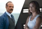 Os atores Brontis Jodorowsky e Zoë Kravitz aparecem em duas fotos de filmes distintos.