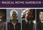 Parte do livro Magical Movie Handbook. Vemos Queenie segurando um guarda-chuva e preocupada, Grindelwald no anfiteatro, Dumbledore na sua sala de Defesa Contra as Artes das Trevas e Credence olhando para o céu, atento.