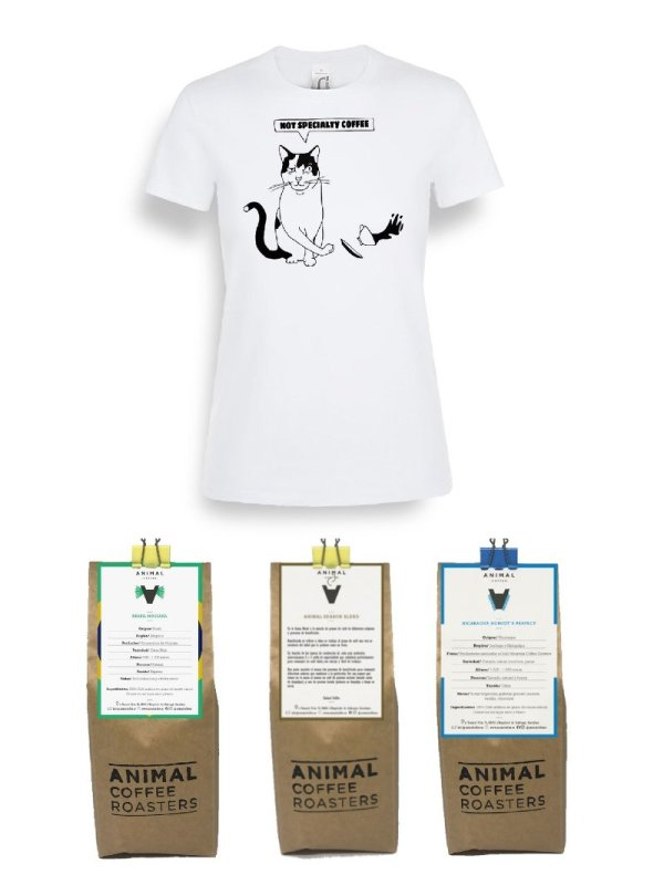 Pack Specialty Coffee para espresso + camiseta Mujer