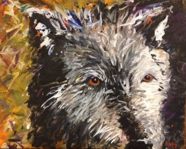 Old Man Wolf, 2012, Acrylic on canvas board, $300