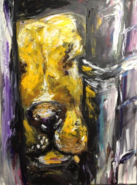 art, painting, pit bull, shelter dog, rescue