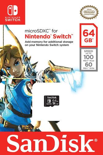 Scheda di Memoria MicroSDXC per Nintendo Switch (64GB)