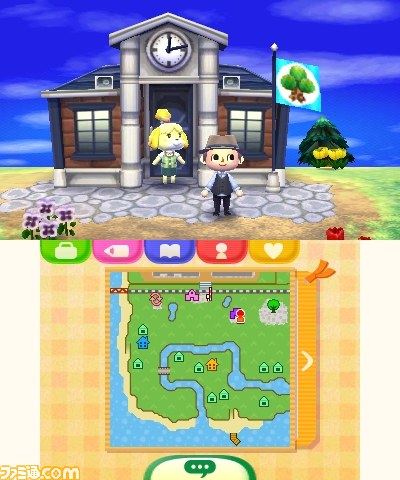 Acnl Town Map : First, Bottom, Screen, Animal, Crossing, World