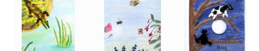 Alligator, Butterfly and Bee, Cat and Cow Animal Alphabet paintings