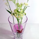 Owl vase with Spring tree, photogrpahed with flowers