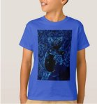 Blue t-shirt for boys with a koala bear in a tree
