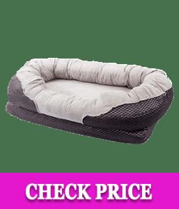 BarksBar Gray Orthopedic Dog Bed - Snuggly Sleeper