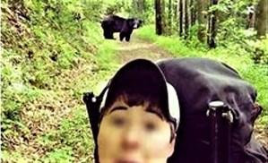 Selfie with wild bear