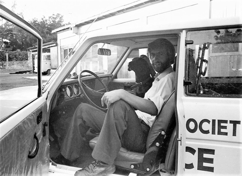 On patrol in Bahamas Humane Society ambulance