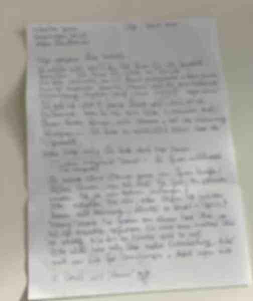 Originalbrief der Kundin