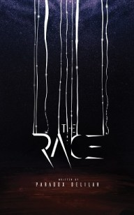 Book cover of The Race by Paradox Delilah, which draws on the cruel realities of animals being treated as commodities in modern time and translates it into a human experience.