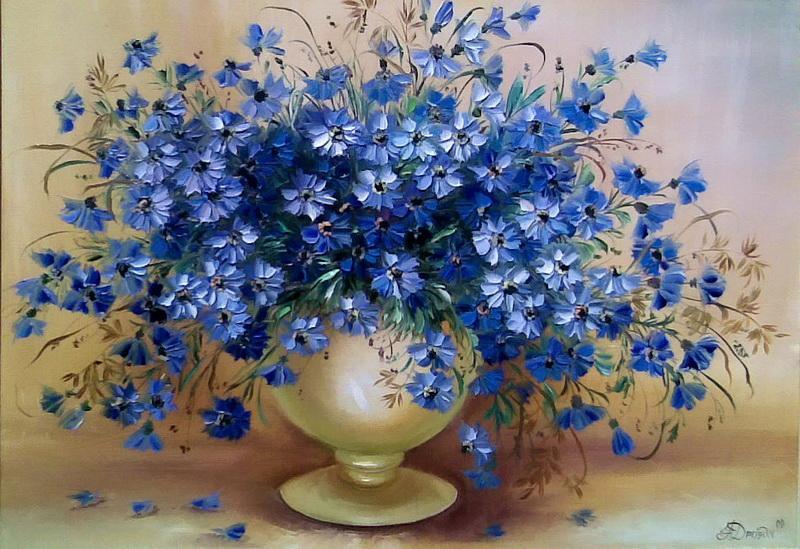 Resultado de la imagen para pinturas al oleo de flores