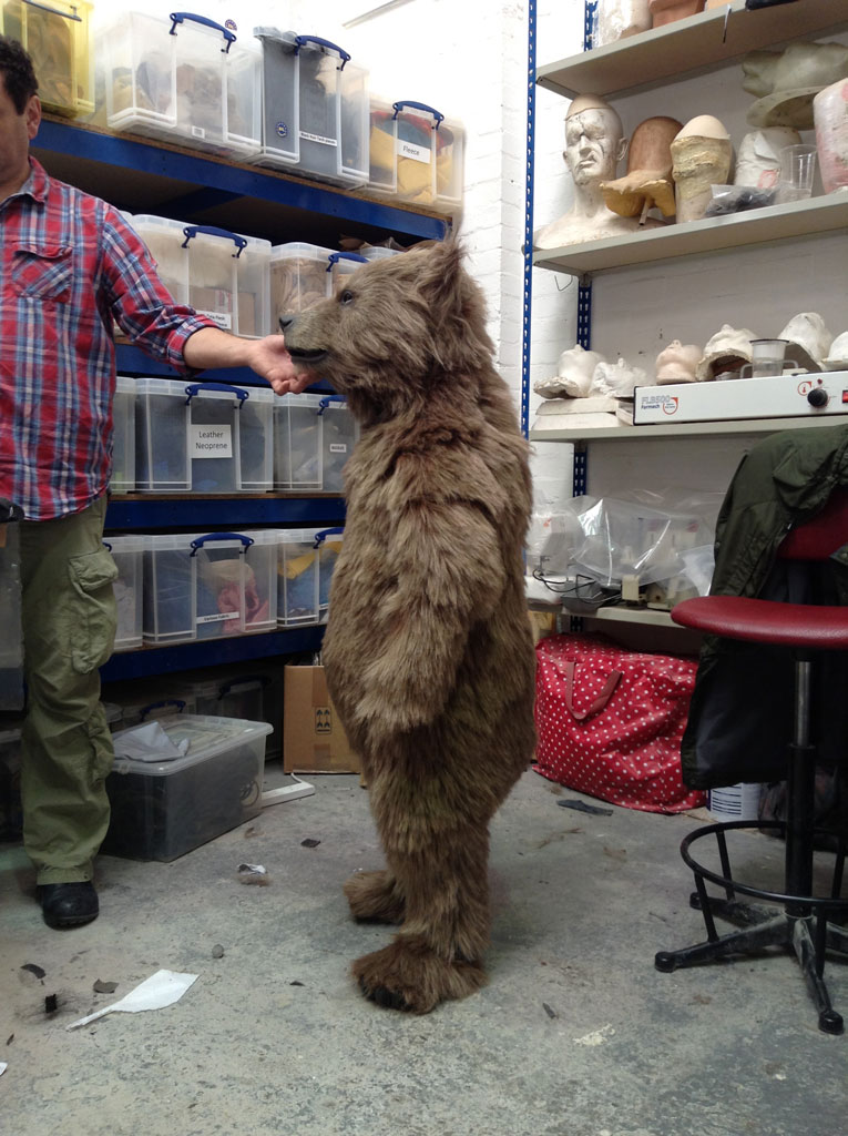 Animatronic Baby Brown Bear in workshop