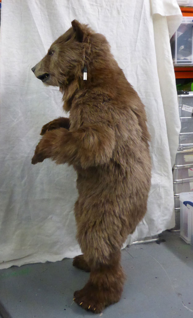 Animatronic Baby Brown Bear side view