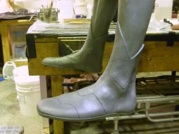 Early boot sculpt for Vision | courtesy of Marvel
