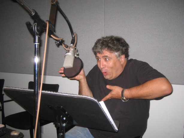 Maurice LaMarche in full flow at a recording session