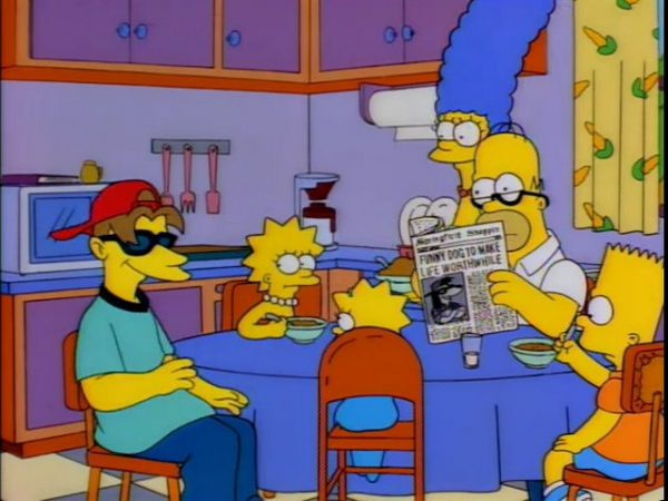 The simpsons family and Roy