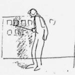 Joe Ranft Drawing from Mark Kennedy's Blog