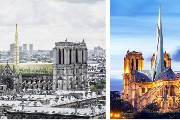 Glass, Golden Flames or a Beam of Light: What Should Replace Notre-Dame's Spire?