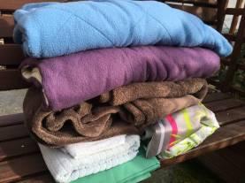 Merci à Marie pour un colis rempli de couvertures bien chaudes !