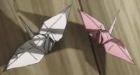 2つの折り鶴
