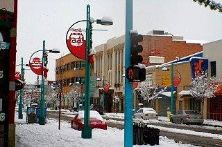 Snow on Route 66