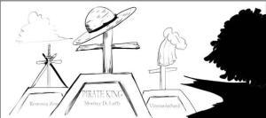 海賊王:粉絲畫出大結局,布魯克來看望逝世的路飛、索隆、山治。