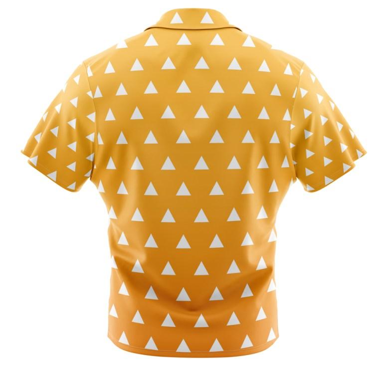 MT2 Button Camp Hawaiian Shirt Mens Large Anime Samurai