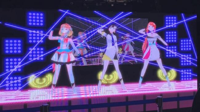 LEDビジョンに登場した3人組美少女バーチャルYouTuberアイドル「Alt!!」ワンマンライブに熱狂!