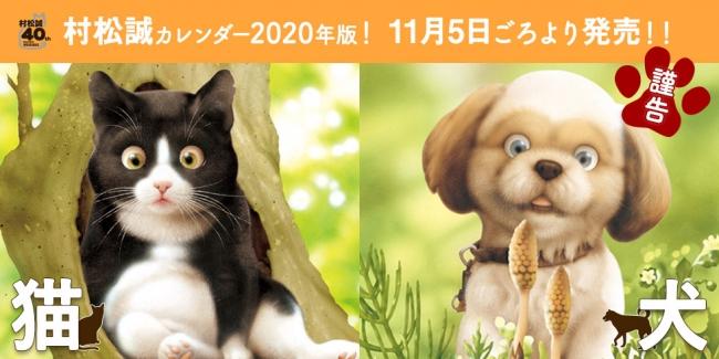 村松誠 2020年版 猫犬カレンダー ©MAKOTO MURAMATSU・SHOGAKUKAN
