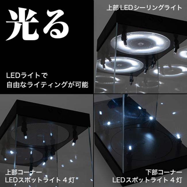 各LEDライトで自由なライティングが楽しめます
