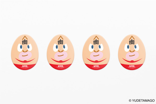 キン肉マンたまご型缶バッジ(赤ver.)