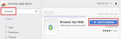 Cara membuka situs di blokir di Google Chrome
