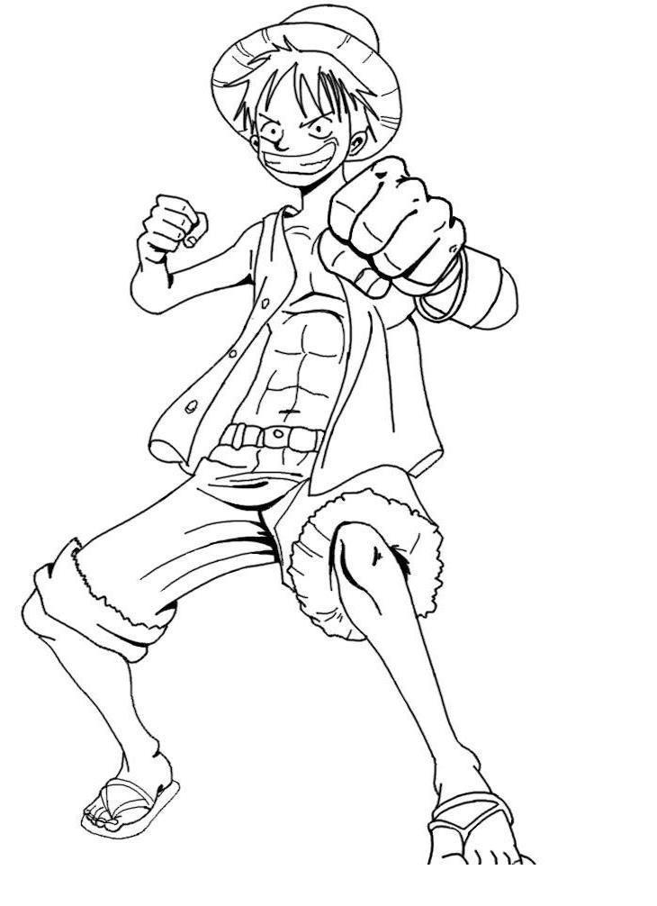 One Piece Coloring Pages : piece, coloring, pages, Printable, Luffy, Coloring, Pages, Anime