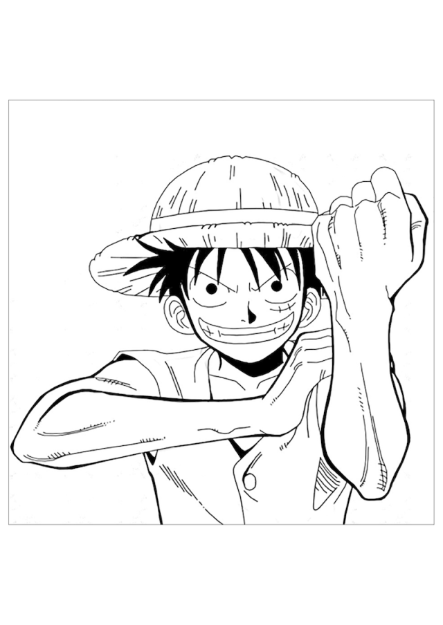 Printable Luffy Coloring Pages - Anime Coloring Pages