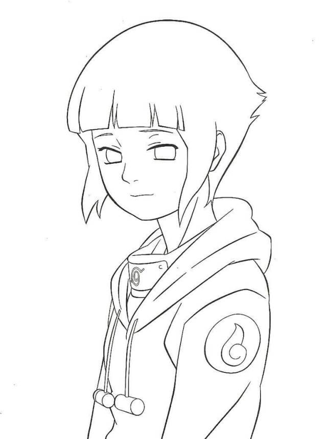 young hinata Coloring Page - Anime Coloring Pages