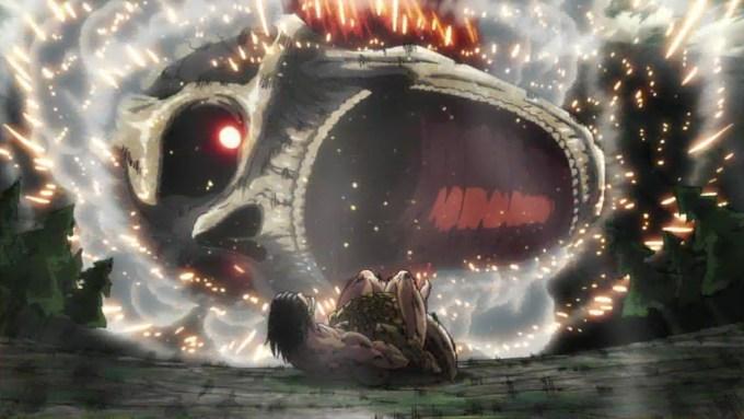 進撃の巨人 落ちてきた超大型巨人の首